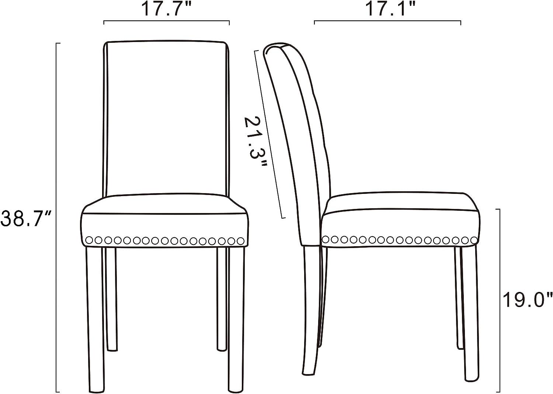 GOTMINSI 260 Pounds Parsons Accent Dining Chair