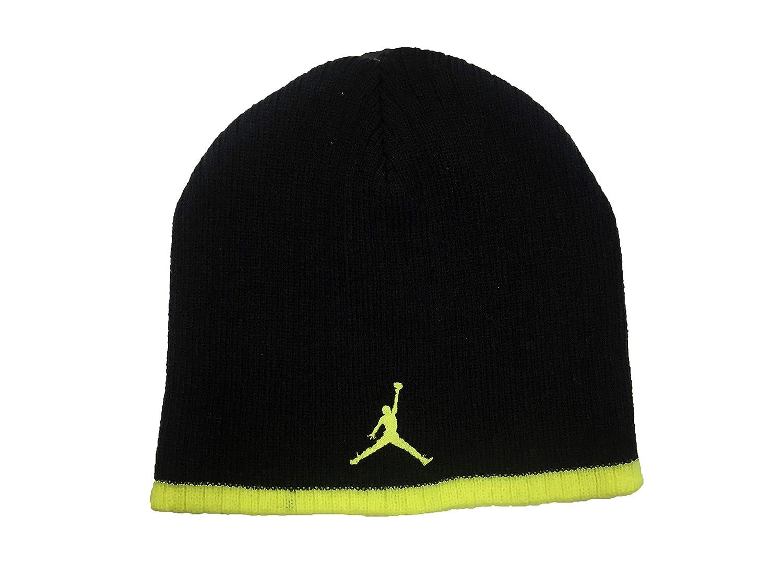 Nike Jordan - Gorro de Punto para niño (8/20, Negro/Voltaje ...