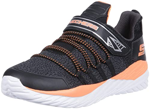 Skechers Kids Boys Nitro Sprint-Vector Shift Sneaker, Black/Charcoal/Orange