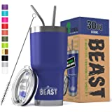 BEAST 30 oz. Royal Blue Tumbler Stainless Steel Vacuum Insulated Rambler Coffee Cup Double Wall (30 oz, Royal Blue)