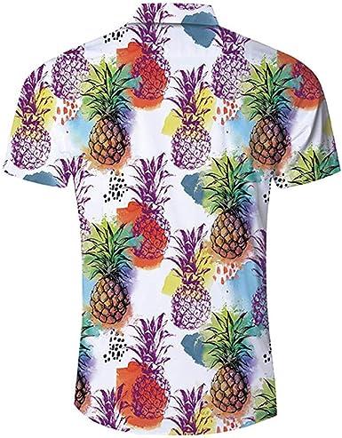 Camisas Hawaianas Hombre De Manga Corta con Estampado De Moda Tops Blusa: Amazon.es: Ropa y accesorios