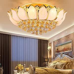 E14 Ceiling Lights Crystal Light Gold Bedroom Lights Living Room Lights Room Modern Round Lamps and Lanterns 60 * 26cm (Size : 45cm)