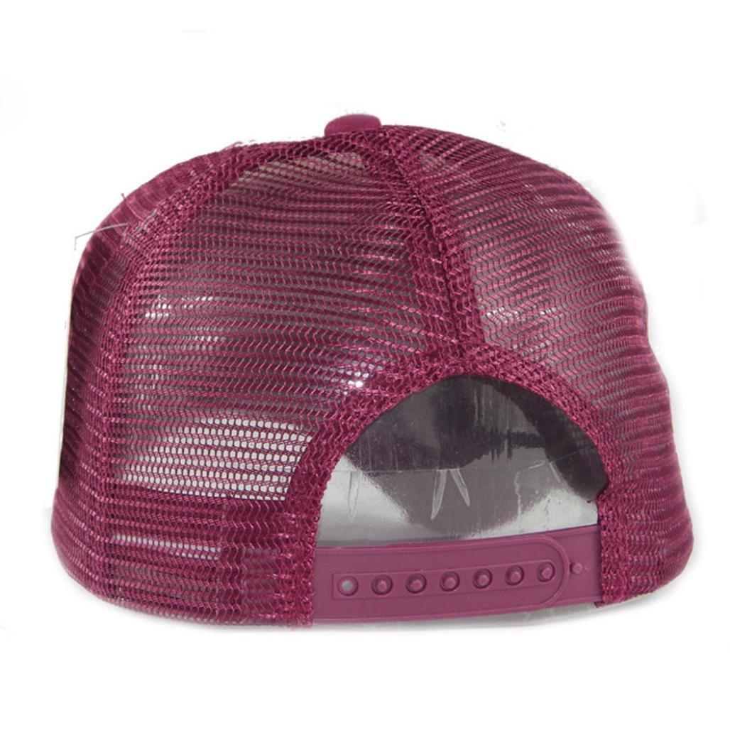 Gorra de beisbol ❤️Amlaiworld Gorra de verano bordada de malla sombreros para hombres mujeres Sombreros casuales Gorras de béisbol de Hip Hop (Rosa ...