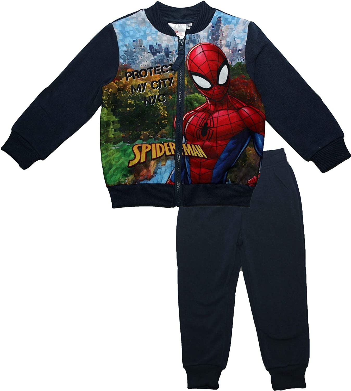 Spiderman Kids Boys Protect My City Zipped Tracksuit