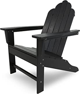 "product image for POLYWOOD ECA15BL Long Island Adirondack Chair, Height: 38.50"" - Width: 31.25"" - Depth: 33.75"", Black"