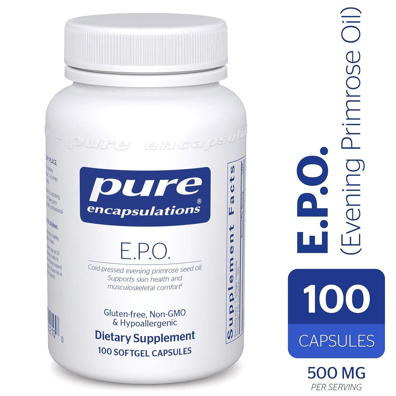 ade7e803530 Pure Encapsulations - E.P.O. (Evening Primrose Oil) - Hypoallergenic  Dietary Supplement.