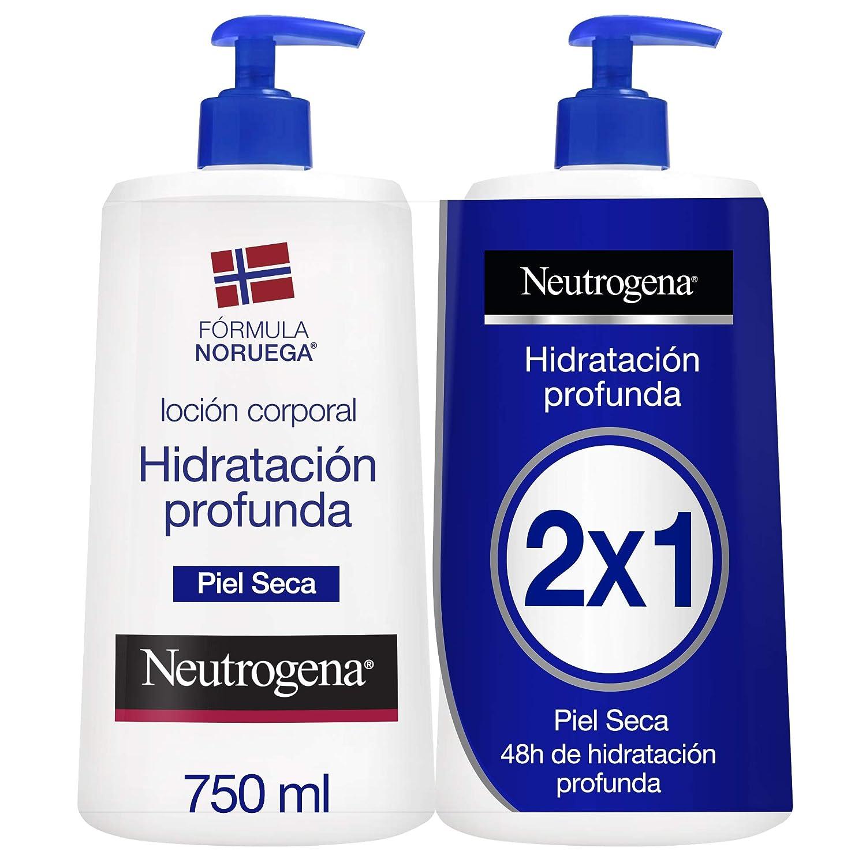 Neutrogena Loción Corporal Hidratación Profunda - Pack de 2 x 750 ml - Total: 1500 ml