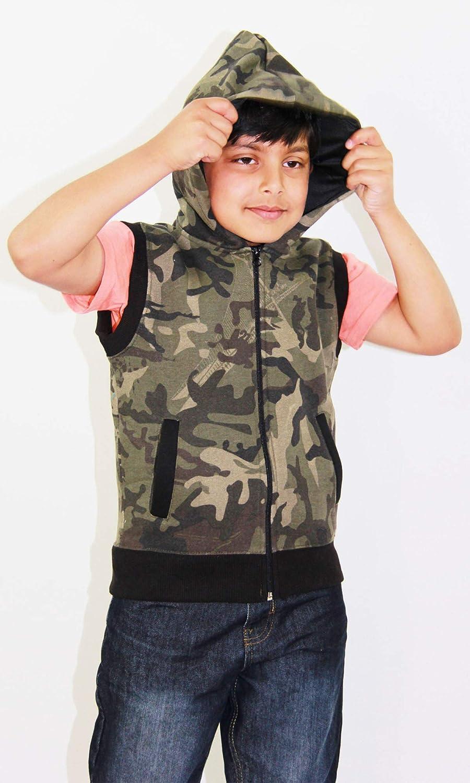 A2Z 4 Kids/® Bambini Felpa con Cappuccio Felpa in Pile per Bambini Senza Maniche Zipper et/à 7 8 9 10 11 12 13 Anni