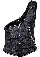 Bslingerie Mens Steampunk Metal Chain Waist Cincher Costume Corset Vest