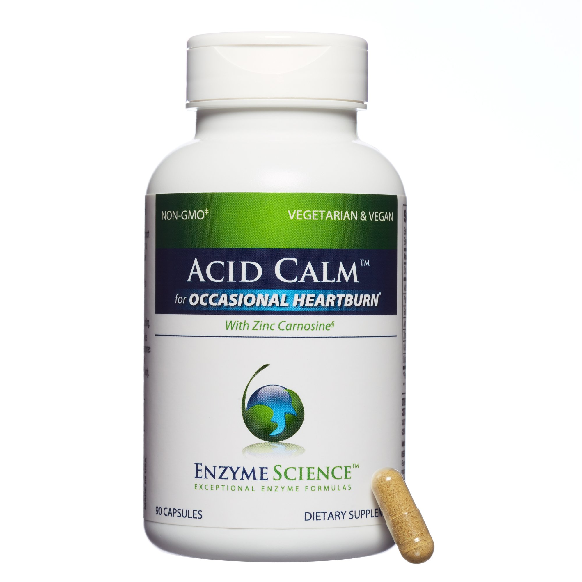 Enzyme Science - Acid Calm, Occasional Heartburn & Indigestion, 90 Vegetarian Capsules by Enzyme Science