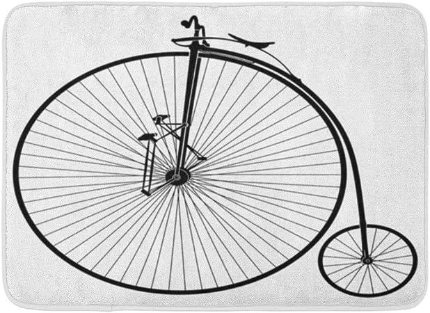 Alfombras de baño Alfombras de baño Alfombrilla de puerta para exterior / interior Bicicleta en blanco y negro Antiguo Velocípedos Máquina de historia vintage Bicicleta de baño Decoración Alfombra de: Amazon.es: Hogar