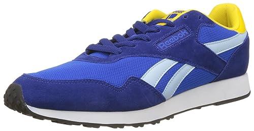 Reebok Royal Ultra, Zapatillas de Deporte para Hombre, Azul (Deep Cobalt/Vital BLU/Fresh BLU/Yello/WH), 45.5 EU