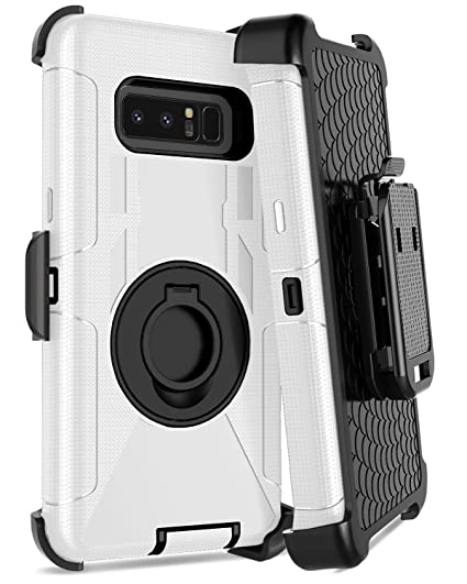 best service 64f68 e3438 Galaxy Note 8 Case,Dailylux Note 8 Case Belt Clip Heavy Duty Shockproof  Swivel Belt Clip Rugged Bumper Hybrid with Kickstand Holster Protective  Cover ...