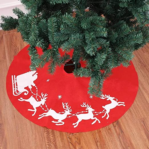 Topanke 100cm Falda del Árbol de Navidad de Decoración para Fiesta ...