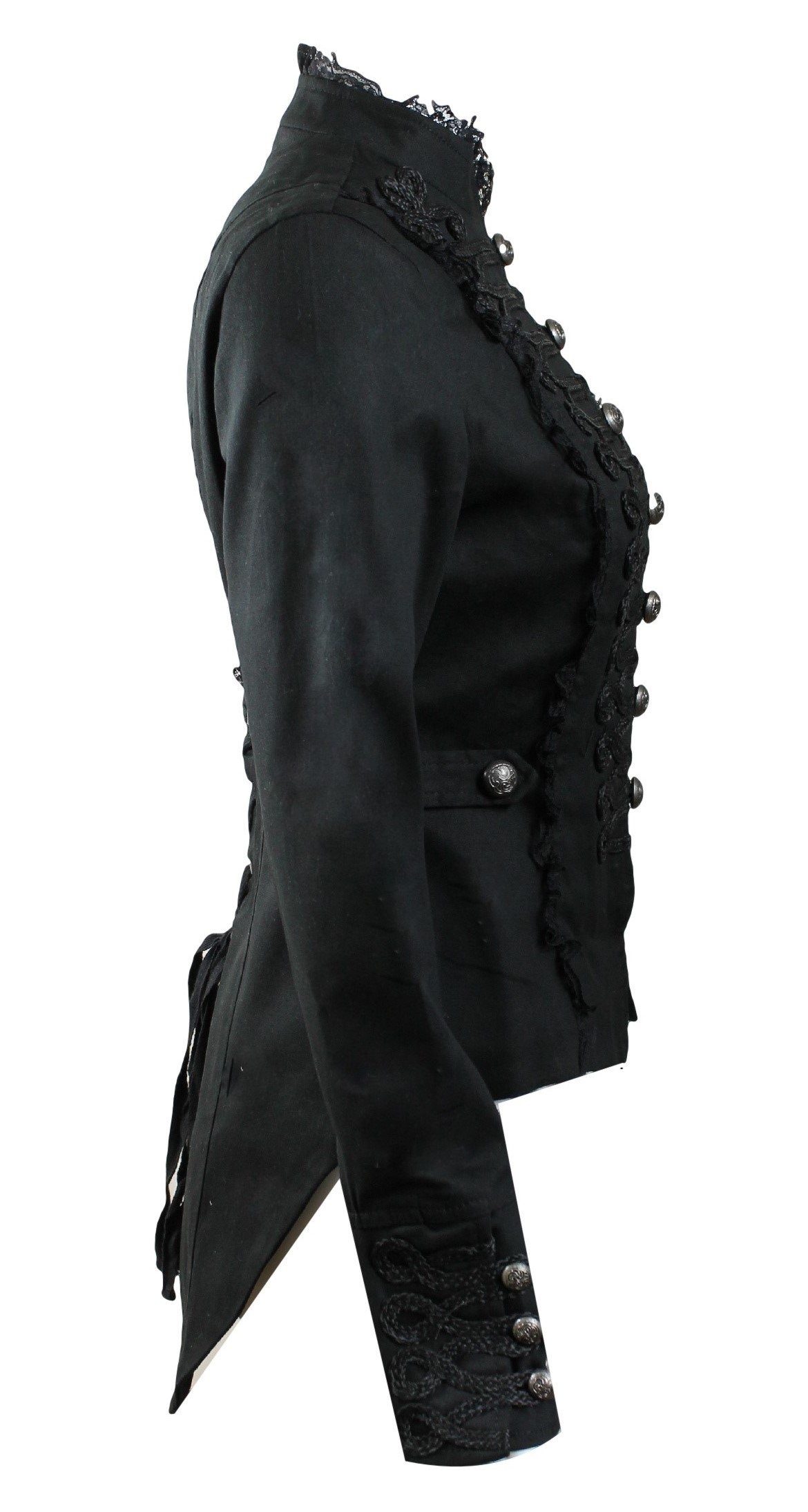 Hearts and Roses H&R Women's Steampunk Gothic Parade Long Tailcoat 4