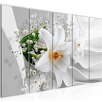 Bilder Blumen Lilie 3D Wandbild 200 x 80 cm Vlies - Leinwand Bild ...