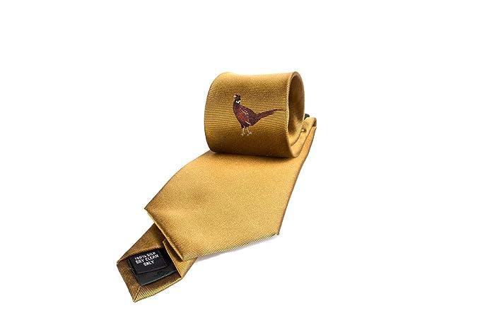 Fenside Country Clothing - Corbata - para hombre Dorado Mostaza Talla  única  Amazon.es  Ropa y accesorios 32a34bb2c18