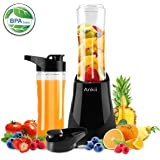 Professional Personal Size Blender with 300-Watt Base, Vitamin and Nutrient Extraction, Detachable Blade Assembly, Total Crushing Technology for Smoothies, Ice, vegetable and Frozen Fruit, 2 Tritan Bottle with 20 oz, Black