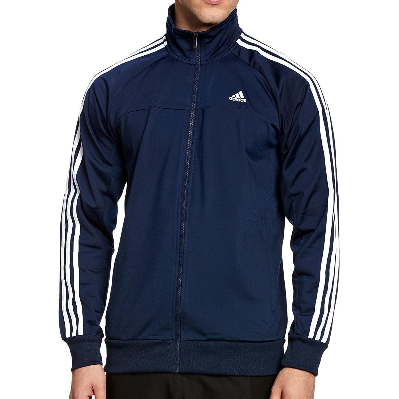 Adidas Chaqueta de Entrenamiento para Hombre 3 Rayas Azul ...