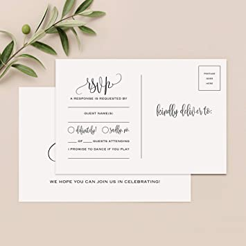 Amazon.com : Bliss Collections RSVP Postcards For Wedding