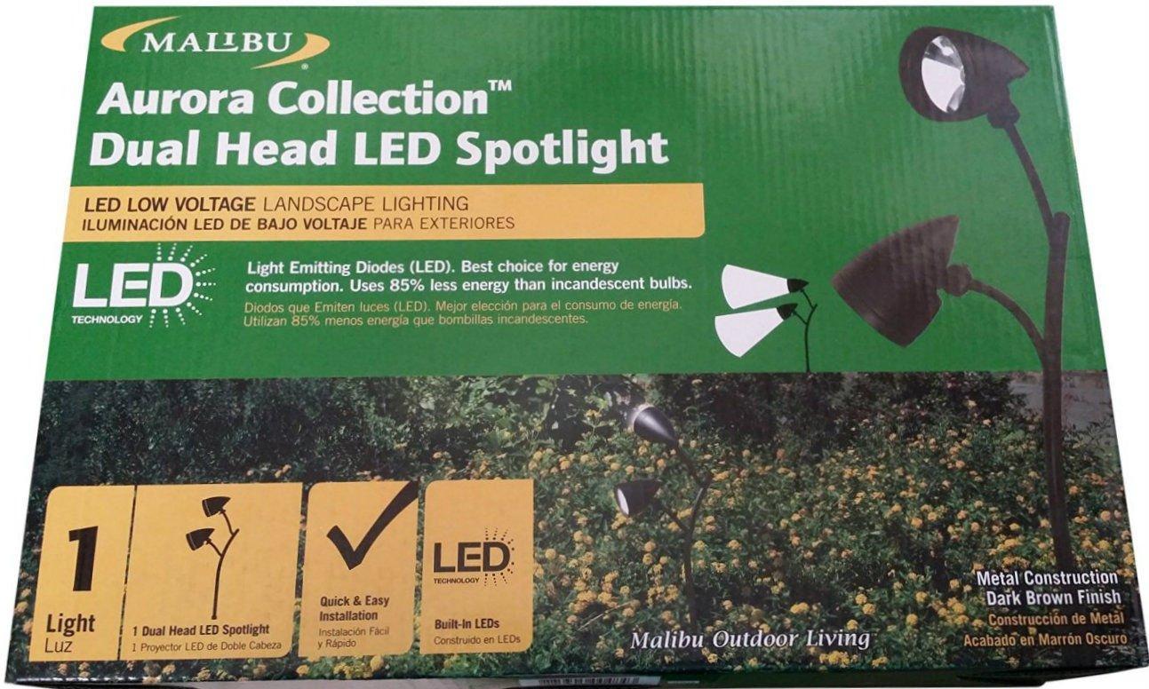 Amazon.com : Malibu Dual Head LED Landscape Spotlight - Aurora Collection : Garden & Outdoor