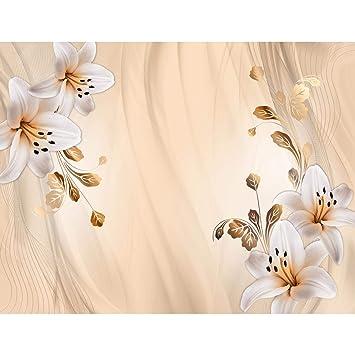 Fototapete Blumen Lilien   Vlies Wand Tapete Wohnzimmer Schlafzimmer Büro  Flur Dekoration Wandbilder XXL Moderne Wanddeko