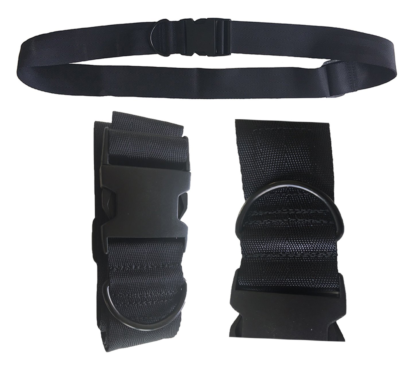 Universal Seat Belt for Wheelchair SB88-MEOS-Black, Up To 60'' Adjustable
