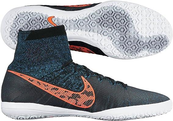 paquete De vez en cuando servidor  Nike hombre Elastico Superfly IC Zapatillas de deporte para fútbol  (negro/azul/gris oscuro/total crimson) (12): Amazon.es: Zapatos y  complementos