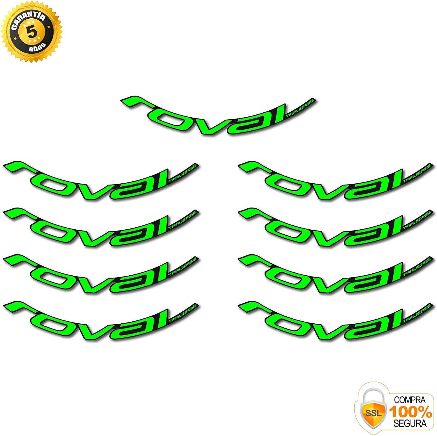 ROVAL Traverse MTB 29 Inch Stickers Bike Wheel Stickers Original Green Neon