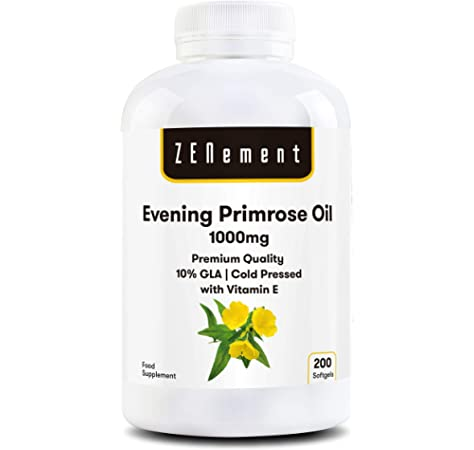 220 perlas Aceite de Onagra 500 mg con 10% en GLA (Ácido Gamma-linolénico) + 3,35 mg de Vitamina E. 220 perlas: Amazon.es: Salud y cuidado personal