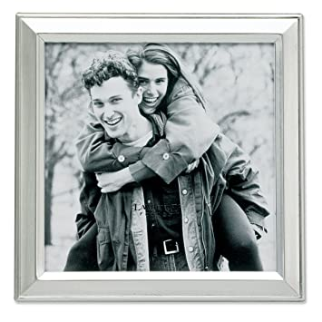 lawrence frames brushed silver plated 5 by 5 metal picture frame