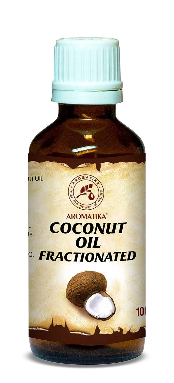 Kokosöl Fraktioniert 100ml - Cocos Nucifera Oil - 100% Reines & Natürliches Kokos Öl - Basisöl - Geruchlos - Intensive Pflege für Gesicht - Körper - Haut - Haare - Nägel - Coconut Öl für Schönheit - Massageöl - Wellness - Kosmetik - Körperpflege - Frak