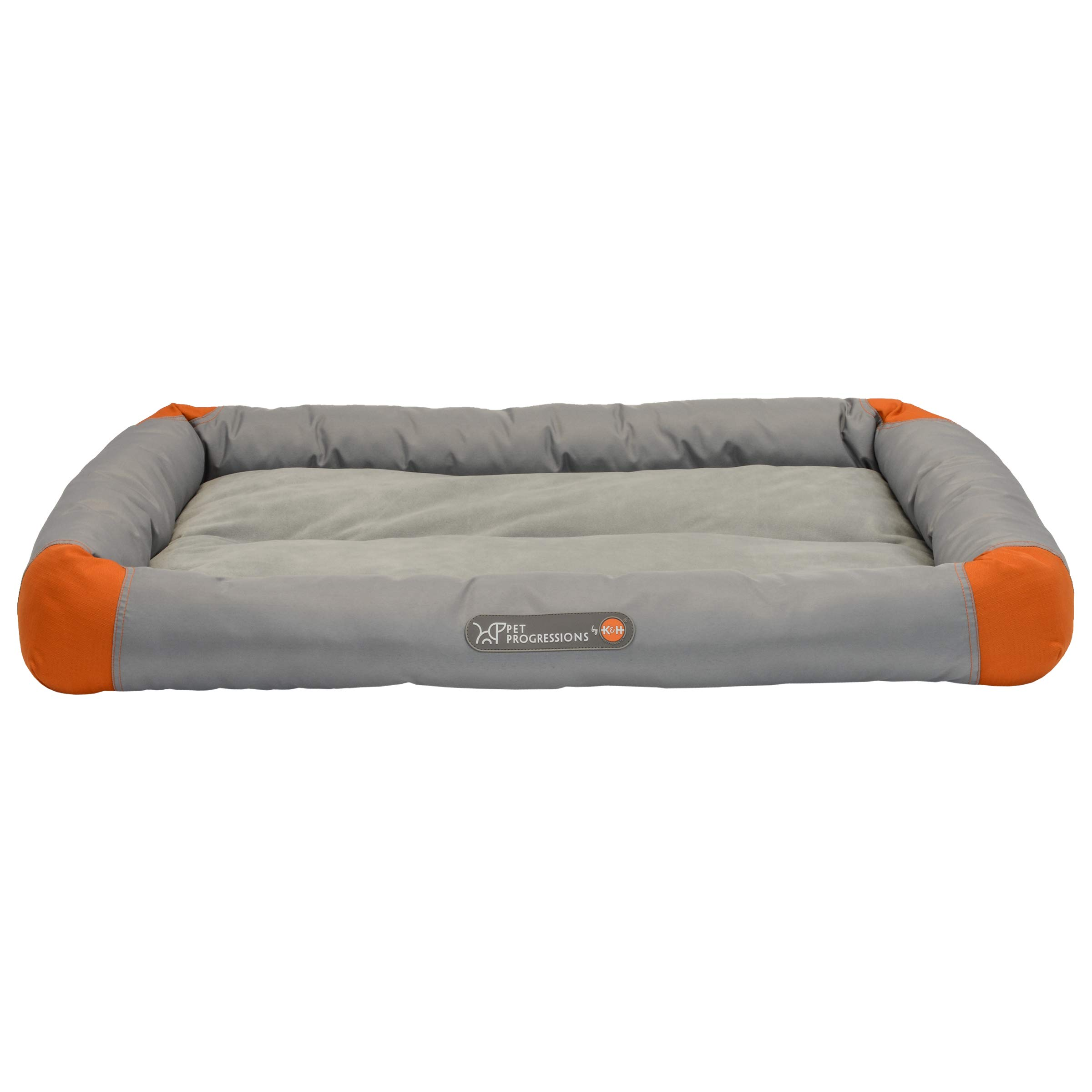 Pet Progressions by K&H Waterproof Puppy Bolster Pet Pad X-Large Grey - Piddle Proof, Stain & Odor Resistant, and Tear Resistant for Puppies & Adult Dogs
