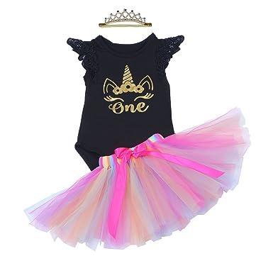 14751fa57 BabyPreg Baby Girls 1st Birthday Tutu with Headband Set: Amazon.co.uk:  Clothing