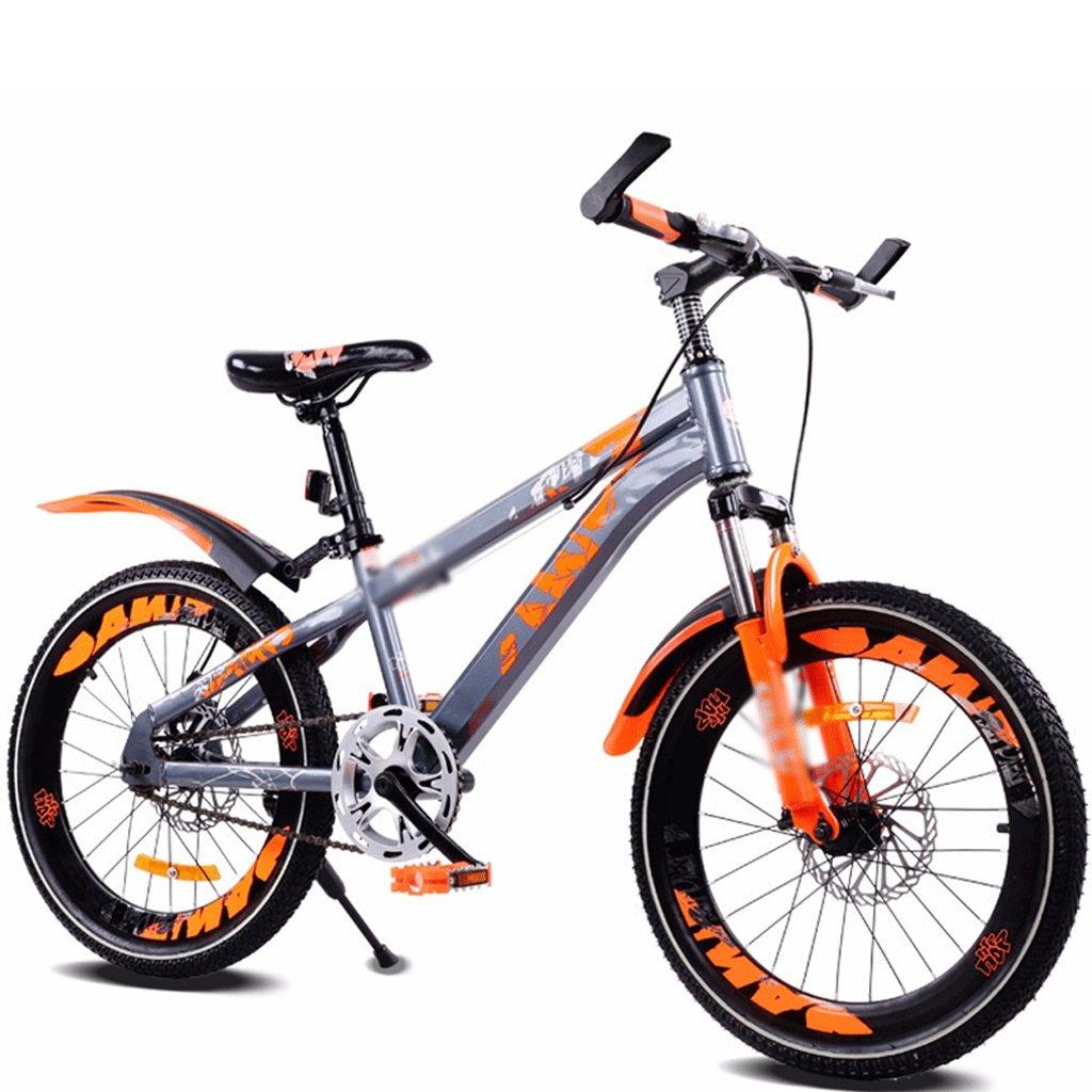 Duwen子供の自転車子供の単一速度マウンテン自転車18インチ20インチオレンジ B07FCBS175   18 inch
