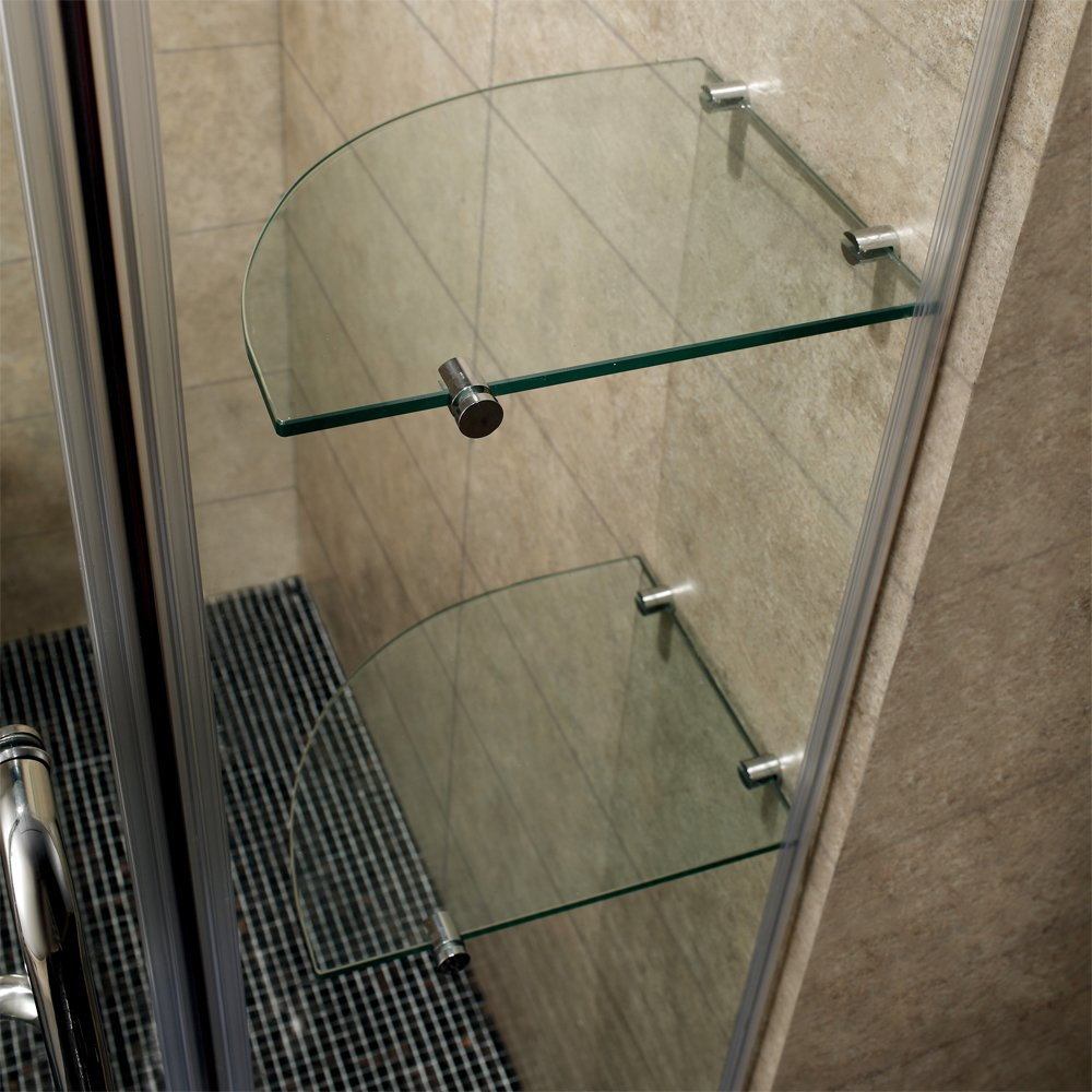 Vigo Pirouette 60 To 66 In Frameless Shower Door With 375 In