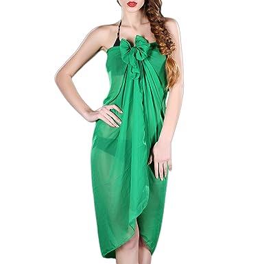 3110923ab9a9f Women Chiffon Sarong Wrap Pareo Wrap Dress Beach Bikini Sarongs Swimwear  Cover Up Scarf  Amazon.co.uk  Clothing
