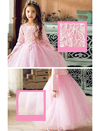 Zhhlaixing Vestido Elegante De Princesa Fiesta Para Niñas