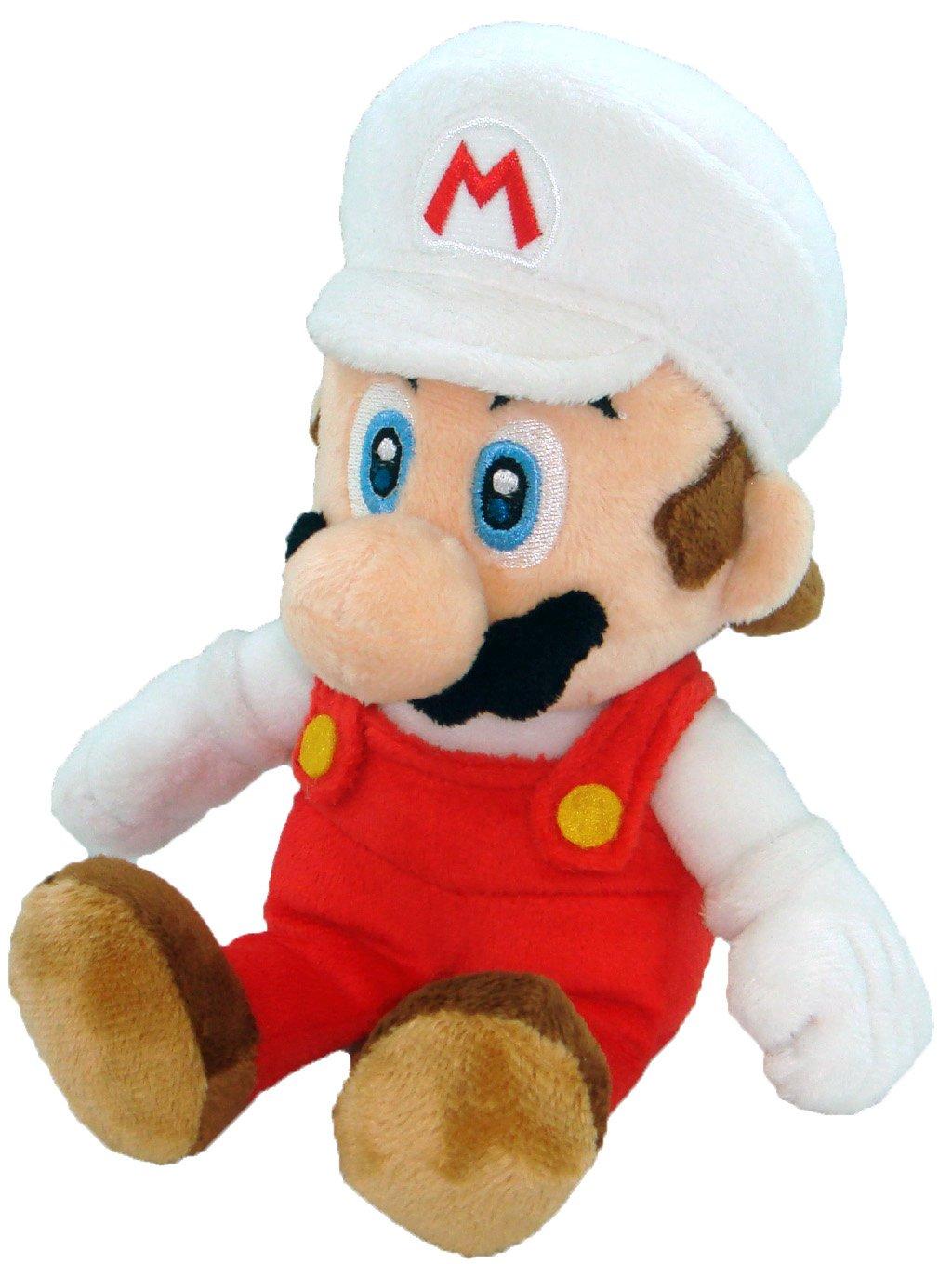 Little Buddy Toys Nintendo Official Super Mario Fire Mario Plush, 8