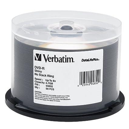 image relating to Verbatim Printable Dvd R referred to as Verbatim DVD-R 4.7GB 8X DataLifePlus Vivid Silver Silk Show Printable - 50pk Spindle