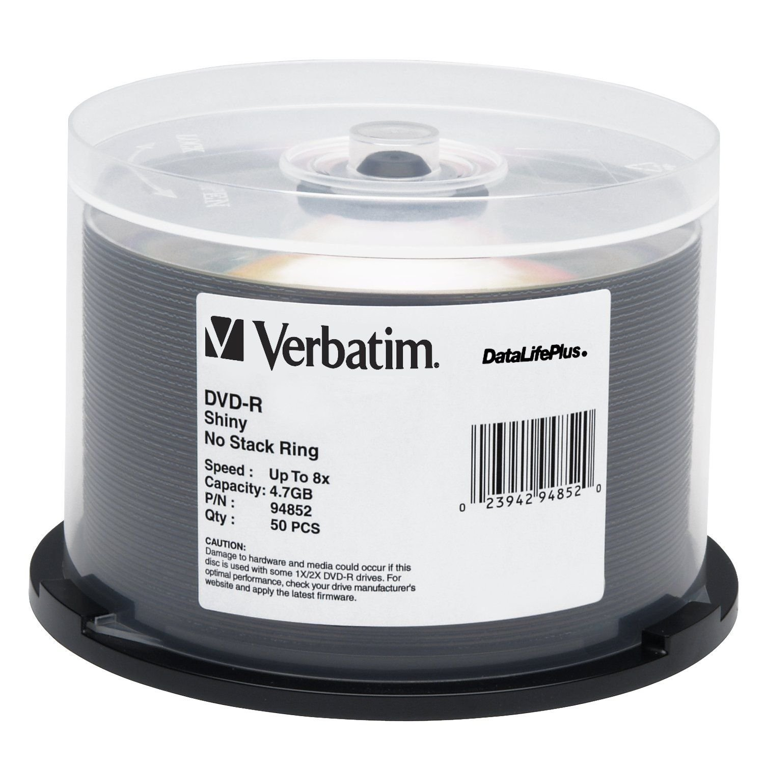Verbatim Shiny Silver DataLife Plus 8x DVD-R 50 Disc Spindle 94852