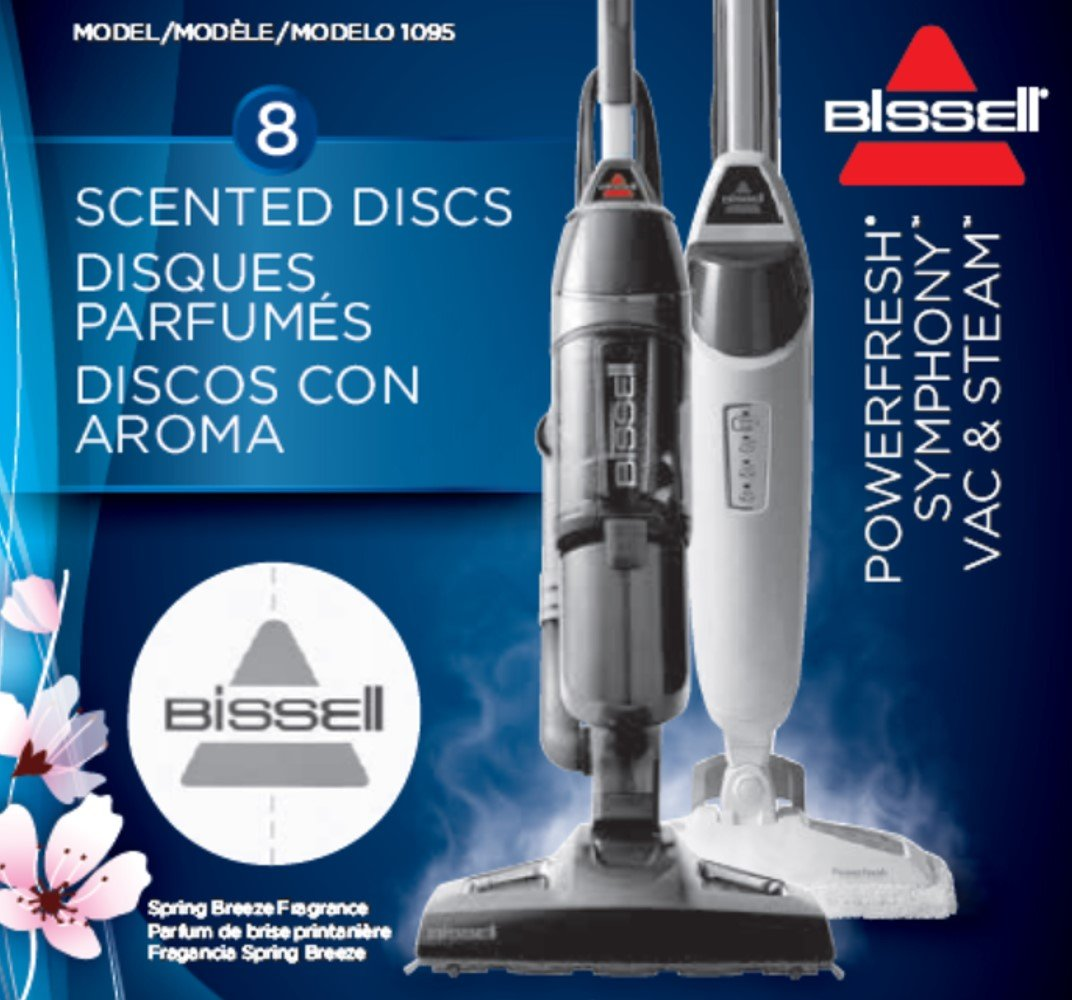 BISSELL Spring Breeze Steam Mop Fragrance Discs, 8 count, 1095