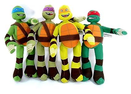 Amazon.com: 4 piezas Teenage Mutant Ninja Turtle de peluche ...