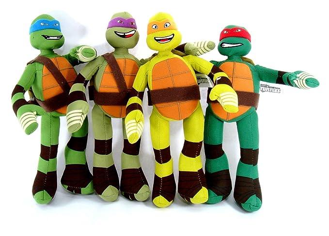 4 Piece Teenage Mutant Ninja Turtle Stuffed Plush Toys by ...