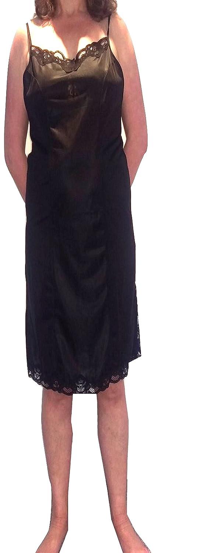 Marlon Full antiscivolo con cinghia regolabile. Nero o Bianco Chemise Petticoat UK 12-26