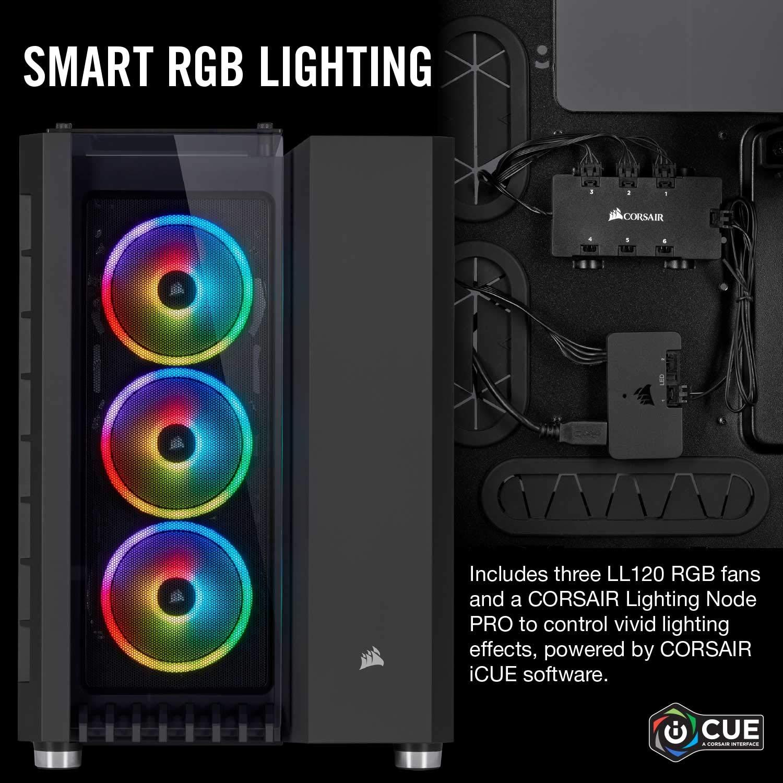 Corsair Crystal Series 680X RGB, Vidrio Templado ATX Smart Gaming Case con Alto Flujo de Aire, Color Negro: Amazon.es: Informática