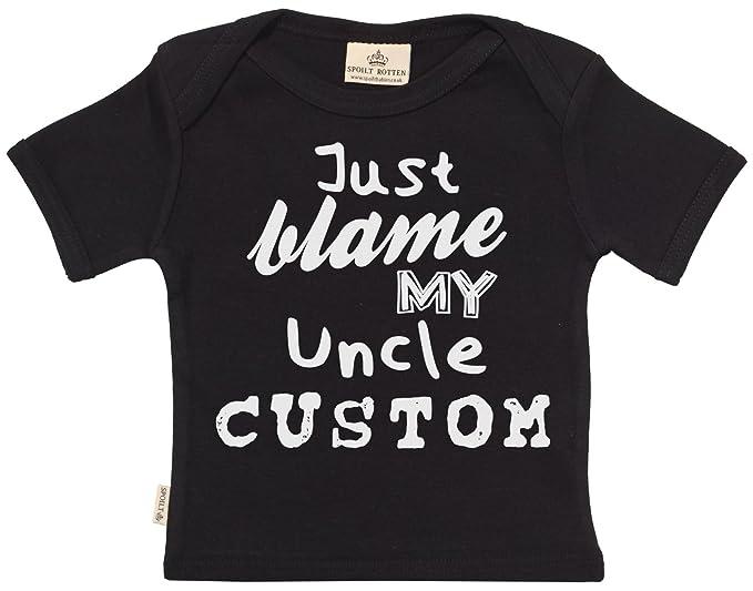 Personalizados bebé Blame My Uncle camisetas personalizados para bebé niño  - camisetas personalizados para bebé niña 5003df2826379