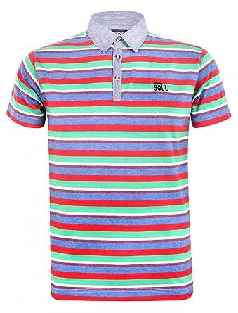 Curlous Soul - Polo - Rayas - para hombre Multicolor multicolor ...