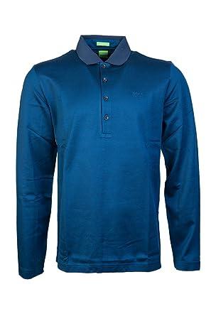 12a7eb1d3 Amazon.com: Hugo Boss Boss Green C-Pirona Long Sleeve Polo Shirt In ...