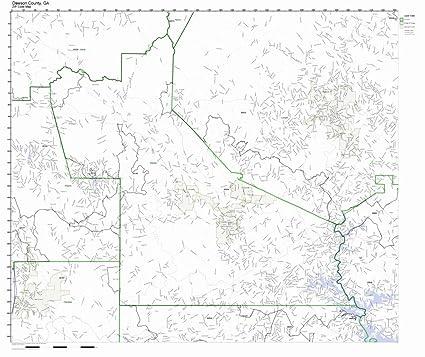Map Of Georgia Zip Codes.Amazon Com Dawson County Georgia Ga Zip Code Map Not Laminated